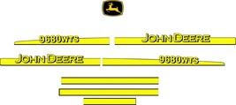 JOHN DEERE 9680 WTS - Combine Harvester decal set, reproduction - $250.00