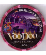 VOODOO Steak & Lounge $5 Limited Edition Rio Las Vegas Casino Chip - $8.95