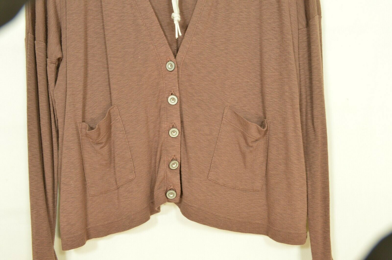 Michael Stars sweater OSFM brown cardigan dropped shoulders lightweight fall USA image 8