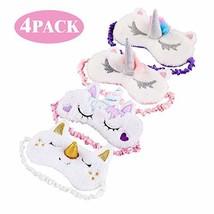 TiiMi Party Unicorn Sleeping Mask 4 Pack Cute Unicorn Horn Soft Plush Bl... - €13,39 EUR