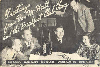 Primary image for The Don Mc Neill Breakfast Club Vintage Post Card