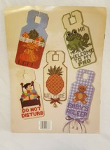 Door Signs in Plastic Canvas Pattern Book 1985 Christmas Baby Do Not Disturb - $14.99