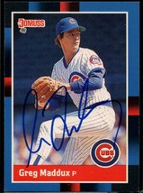 Greg Maddux Signed Autographed 1988 Donruss Baseball Card - Chicago Cubs - $29.99