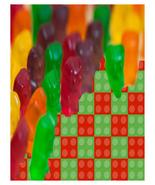 Gummy Bear and Lego-Digital Clipart-Bear Heart-Coaster-Tag - $4.00