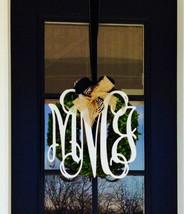 Wooden Monogram-Vine Wooden Monogam-Wooden door monogram-interlocking wo... - $29.95
