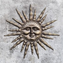 Dawn's Light Aluminum Sun Wall Plaque/Sculpture Garden Decor,32''D. - $191.07