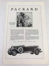 Packard Automobile Vtg 1929 Print Ad Hunters Trappers - $9.89