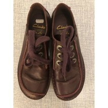 Clarks Funny Dream Burgundy Leather Lace Up Shoes Size UK 4 D, EU 37, US... - $34.65