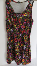 Junior Forever 21 Floral Bright Multi - Colored Empire Waist Dress Size M - $8.59