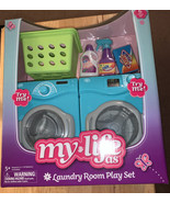 6 Piece Laundry Room Play Set Dollhouse Furniture My Life As - $37.72