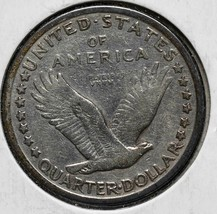 1917S Type I Standing Liberty Silver Quarter Coin Lot# 818-14 image 2