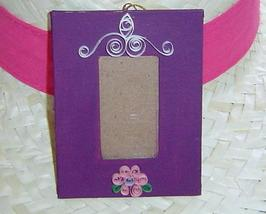 Handcrafted paper quill hanging picture frame, Purple New - $14.99