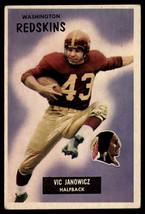 1955 Bowman #133 Vic Janowicz Redskins EX/NM  - $28.50