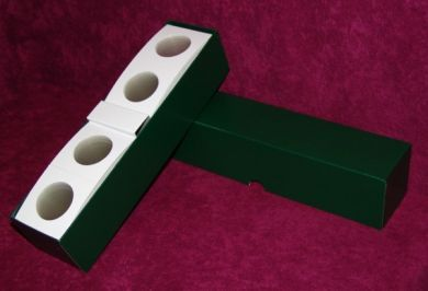 "Lg Dollar 2½"" x 2½""Coin Flips w/Green storage boxes.(3 Boxes-150 Flips per box)"