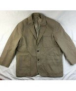 Duluth Trading Co Jacket Canvas Fire Hose Presentation Khaki Coat Sport XL - $56.09
