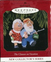 "New Hallmark Keepsake Christmas Ornament ""The Clauses on Vacation"" 1997 ... - $2.66"