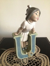 Lladro  # 5149 School Girl Vowel Letter 'U' is for Ursula , Retired  ~ Mint - $399.99