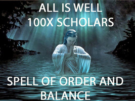100X 7 SCHOLARS ALL IS WELL BALANCE AND ORDER EXTREME MAGICK RING PENDANT - $99.77