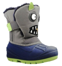 Cat & Jack Toddler Boys' Grey Huxley Monster Water Resistant Winter -10F Boots