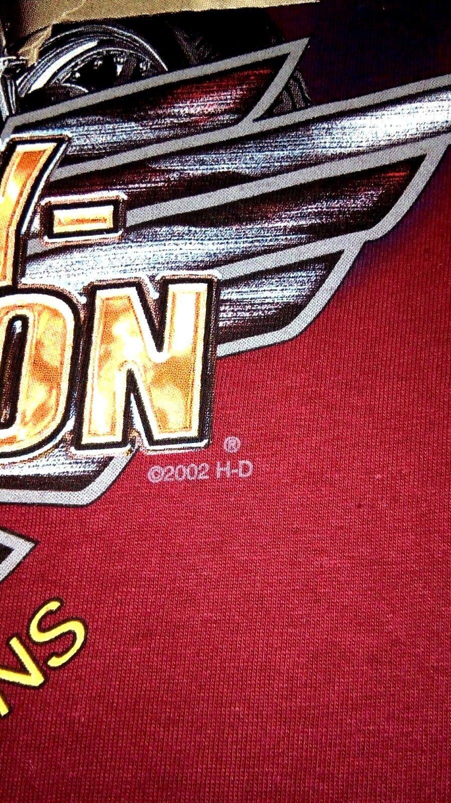 NWOT Harley Davidson York Vehicle Operations 2002 Men's L Red Hanes Beefy TShirt image 5