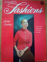 Vintage American Thread Co.Star Fashion Book No 125 Knitted Crocheted It... - $4.99