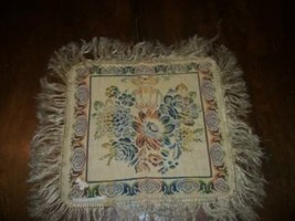 FRENCH SHABBY CHIC PARIS APT ITALIAN TAPESTRY TABLE COVER DOILY FRINGE A... - $26.59