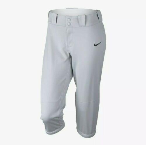 Nike NEW Womens Small S Grey Diamond Invader 3/4 Softball Pants 812572-052