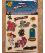 Vintage My Little Pony Glitter Puffy Stickers By DekkerToys VERY RARE - $99.99