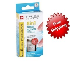 Intensive Nail Conditioner Eveline 8 In 1 Total Action, Free And Fast Delivery - $8.83
