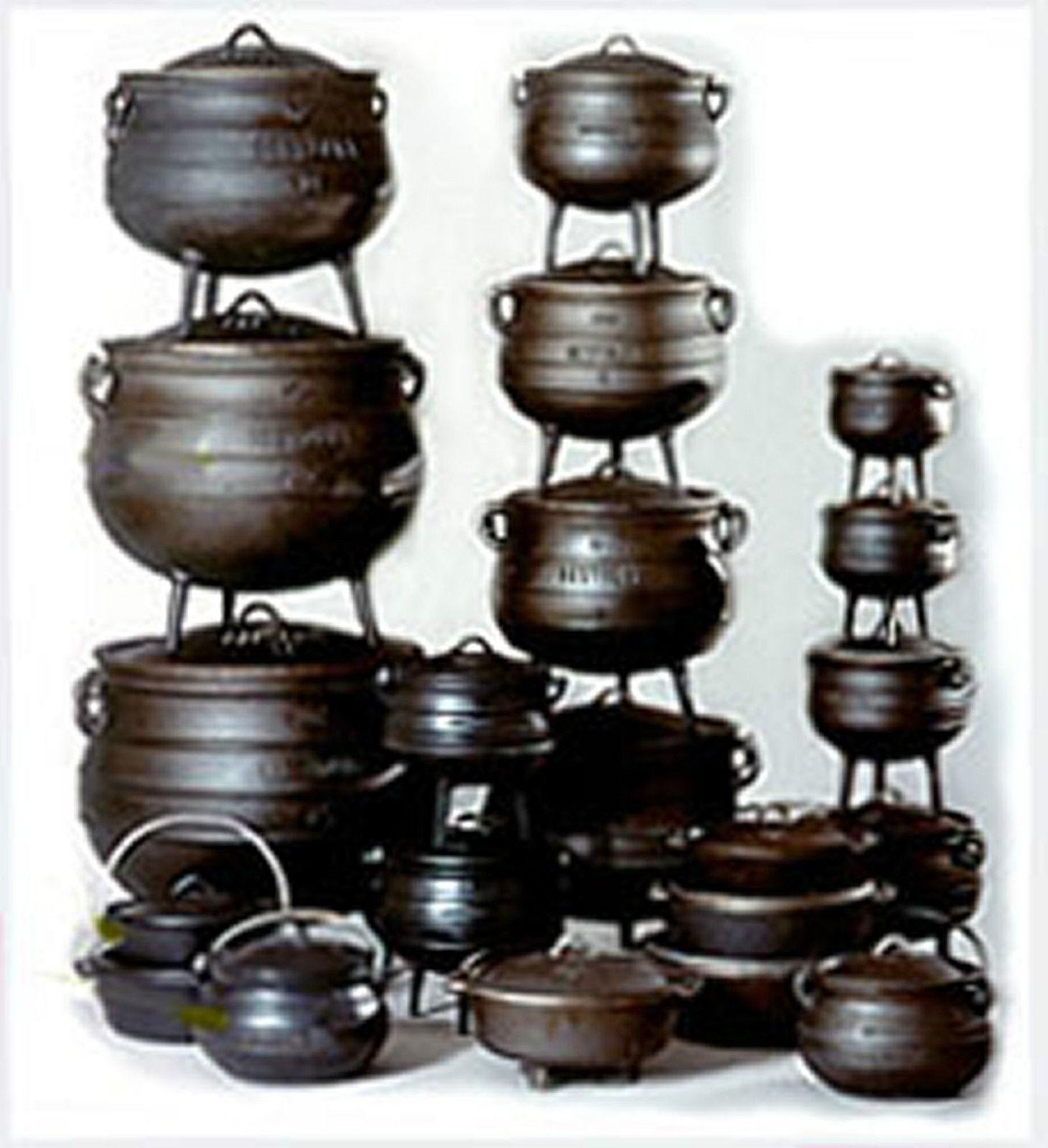 cauldron cast iron potjie pot sz 3 4 outdoor survival 2 qt cookware druid pagan cast iron. Black Bedroom Furniture Sets. Home Design Ideas