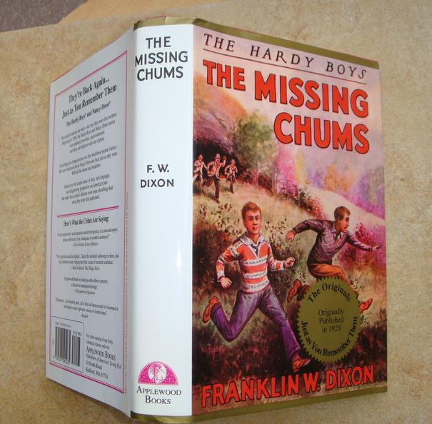 Primary image for Hardy Boys 4 The Missing Chums FIRST Edition Applewood NEW