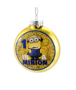 Despicable Me-Minion Ornament-Glass -Yellow One in a Minion!-Holiday! - $11.57