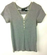 Bobbie Brooks Women's Gray Short Sleeve Pullover - Size S (6/8) - $6.99