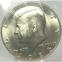 1985-D Kennedy Half Dollar BU in the Cello #0614 - $4.79