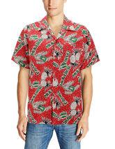 Men's Casual Tropical Hawaiian Luau Aloha Revere Beach Button Up Dress Shirt image 14