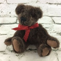 "Boyds Bears Jointed Teddy Plush 6.5"" Dark Brown Collectible Stuffed Animal Toy  - $11.88"