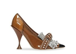 $1550 Burberry Crystal  Embellished Pumps 38 So Very Beautiful! Rare  - $975.15