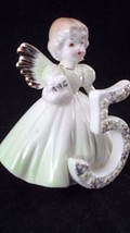 Sweet Vtg Josef Originals Age 5 Birthday Angel Girl Figurine Kindergarten ABC's - $13.32