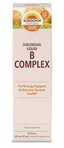 Sundown Vitamin B-12 Complex Sublingual Liquid, 2 Ounces