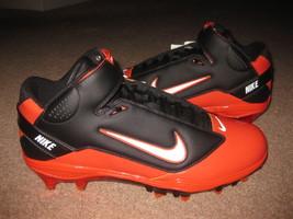 Nike LT Super Bad TD Promo Sample Chicago Bears Jay Cutler Cleats Black Orange - $99.99