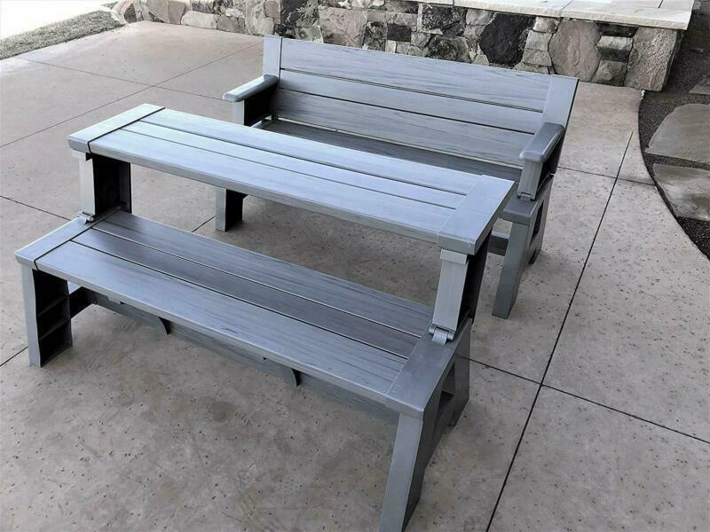Premiere Products 5Rcatpg Convert A Bench, Platinum Gray