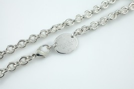 """Tiffany & Co. Sterling Silver """"Return to"""" Oval Charm Necklace w/ Lobster Clasp - $267.30"""