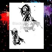 Tribal Dragon Set 02 Airbrush Stencil,Template - $10.99