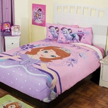 SOFIA THE FIRST PRINCESS DISNEY ORIGINAL BLANKET WI SHERPA SOFT WARM TWI... - $74.24