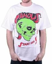Famous Stars & Straps The Hawk Mohawk Punk Rock Travis Barker White T-Shirt NWT