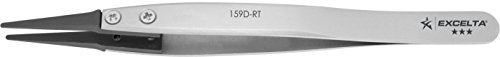 Excelta - 159D-RT - Tweezers - Replaceable Tip - Straight -Three Star - Carbon F
