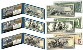 1890's EDUCATIONAL SERIES Neoclassical NEW Legal Tender Bills $1-$2-$5 *... - $46.71