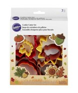Wilton Colorful Metal Autumn 7 Pc Cookie Cutter Set Fall - $8.90