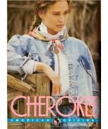 1987 Cherokee Jeans Jill Goodacre Print Advertisement Retro Ad Vintage V... - $7.92