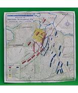 Vintage Steven Stanley Civil War Map, Battle Of Second Manassas, VA - $1.95